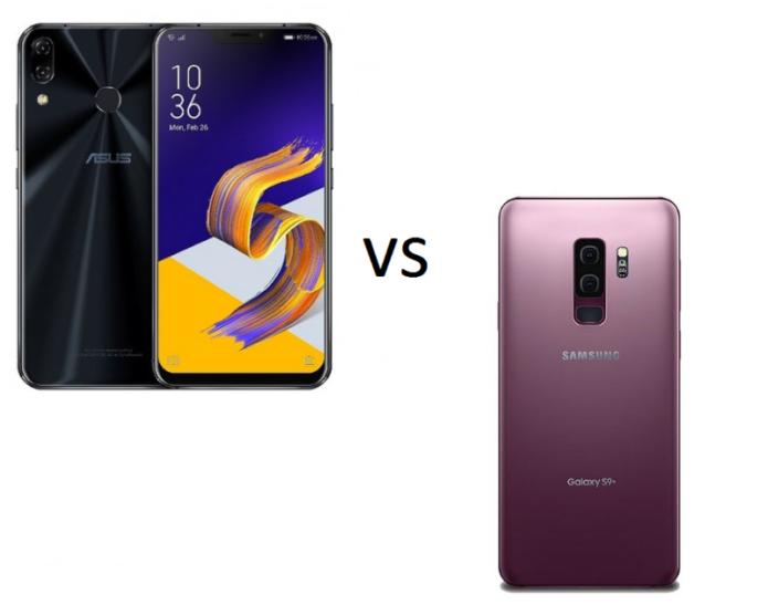 ASUS ZenFone 5Z vs Samsung Galaxy S9+ Specs Comparison