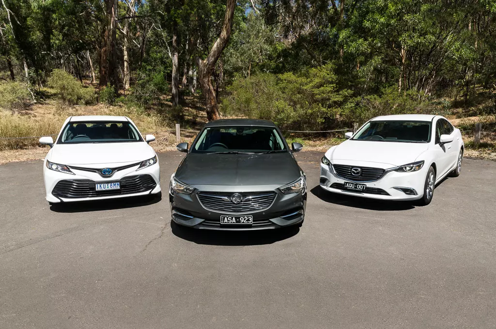 Holden Commodore v Mazda 6 v Toyota Camry 2018 Comparison ...