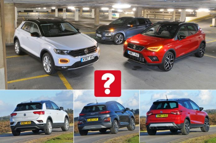 New Hyundai Kona & Volkswagen T-Roc vs Seat Arona Comparison