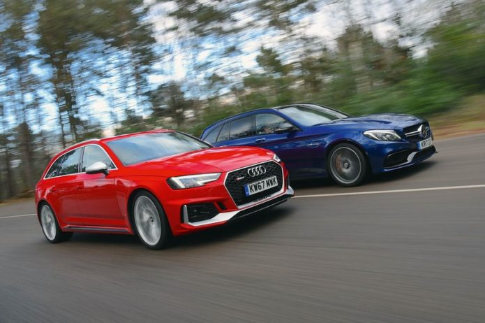 2018 Audi RS4 Avant vs Mercedes-AMG C63 S Estate Comparison