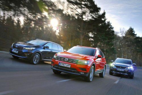 New Kia Sorento & Volkswagen Tiguan Allspace vs Peugeot 5008 Comparison