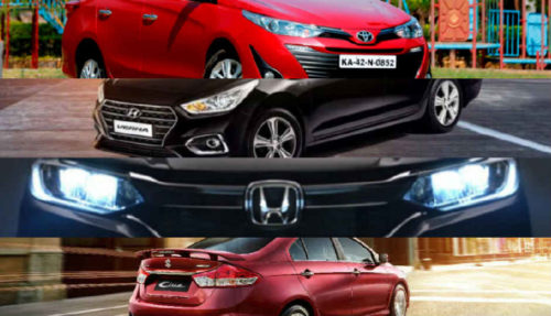 Toyota Yaris v. Honda City v. Hyundai Verna v. Maruti Ciaz: Equipment, features and technology compared