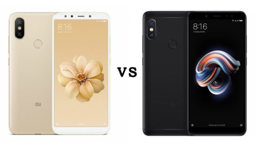 Xiaomi Mi 6X (Mi A2) vs Redmi Note 5 Pro: Specification comparison