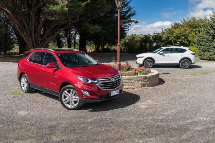 Holden Equinox LTZ-V vs Mazda CX-5 Akera Comparison