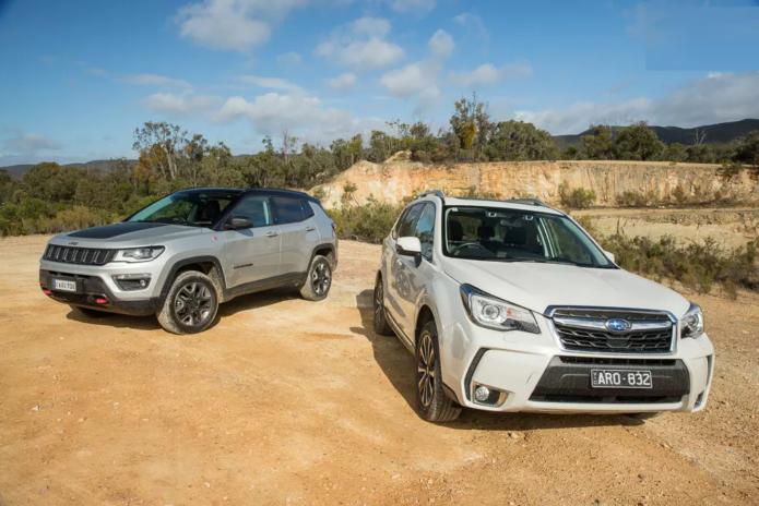 Jeep Compass Trailhawk v Subaru Forester XT Premium Comparison