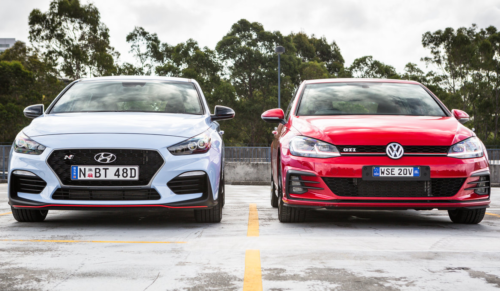 2018 Hyundai i30 N v Volkswagen Golf GTI 5-door comparison