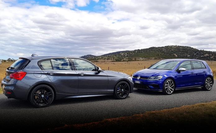 2018 BMW M140i v Volkswagen Golf R comparison