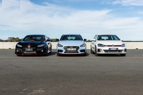 Hyundai i30 N v Volkswagen Golf GTI v Honda Civic Type R 2018 Comparison