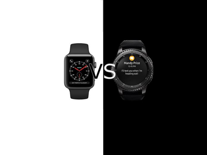 Apple Watch 3 vs Samsung Gear S3 Frontier Comparison