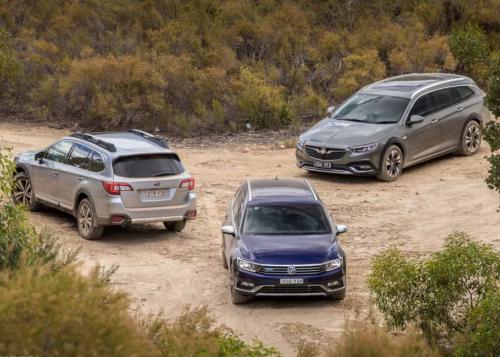 Holden Commodore Tourer v Subaru Outback v Volkswagen Passat Alltrack 2018 Comparison