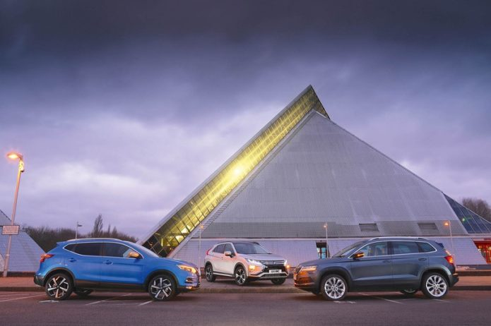 New Mitsubishi Eclipse Cross vs Nissan Qashqai vs Skoda Karoq Comparison