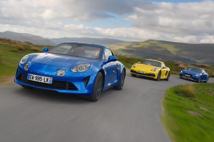 New Alpine A110 vs Audi TT RS vs Porsche Cayman Comparison