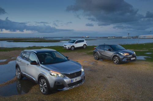 Peugeot 3008 vs Seat Ateca vs Toyota C-HR Comparison