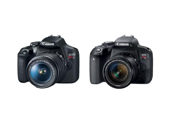 Canon Rebel T7 vs Canon T6 vs Canon T100 – Comparison