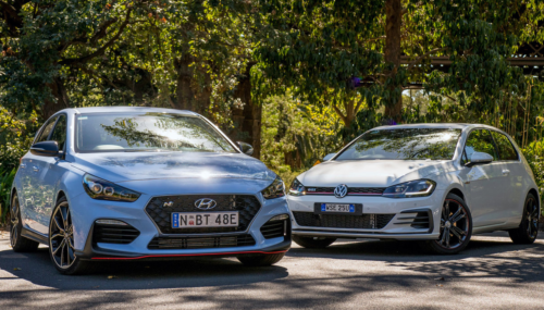 2018 Hyundai i30 N v Volkswagen Golf GTI Original 3-door comparison