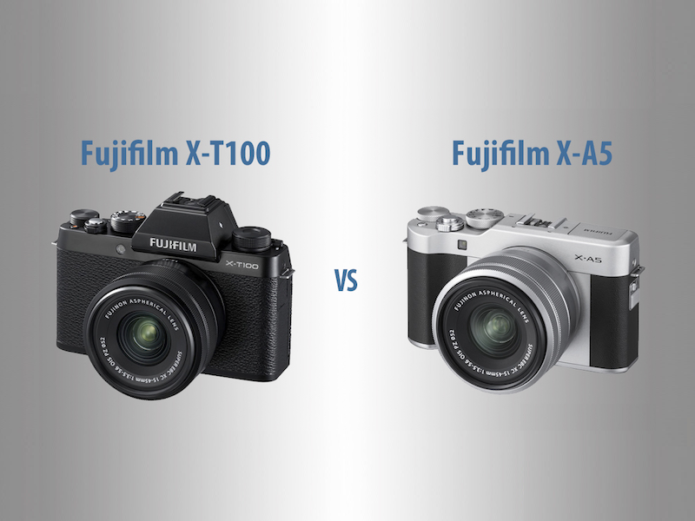 Fujifilm X-T100 vs X-A5 – The 10 Main Differences