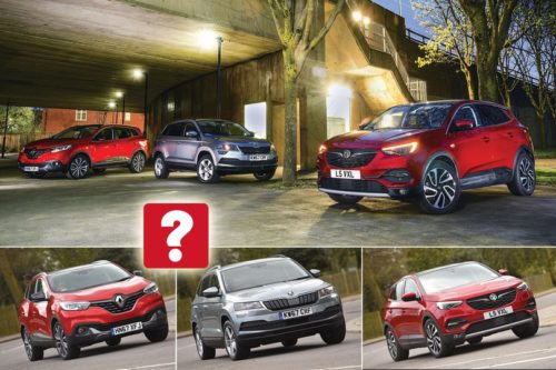 New Vauxhall Grandland X vs Renault Kadjar vs Skoda Karoq Comparison