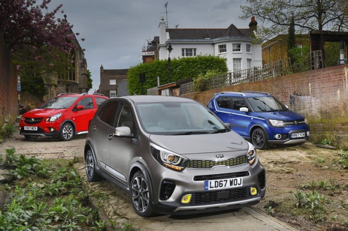 New Kia Picanto X-Line and Vauxhall Viva Rocks vs Suzuki Ignis Comparison