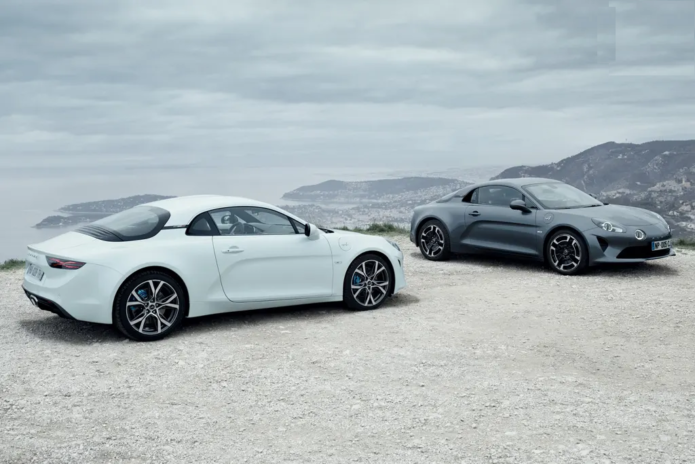 All three Alpine A110 editions for Oz