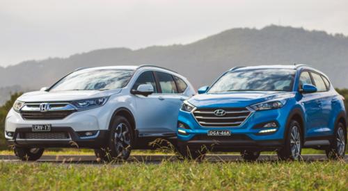 2018 Honda CR-V VTi-S v Hyundai Tucson Active X comparison