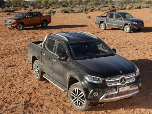 Ford Ranger Wildtrak v Mercedes-Benz X 250d POWER v Volkswagen Amarok Core Plus 2018 Comparison