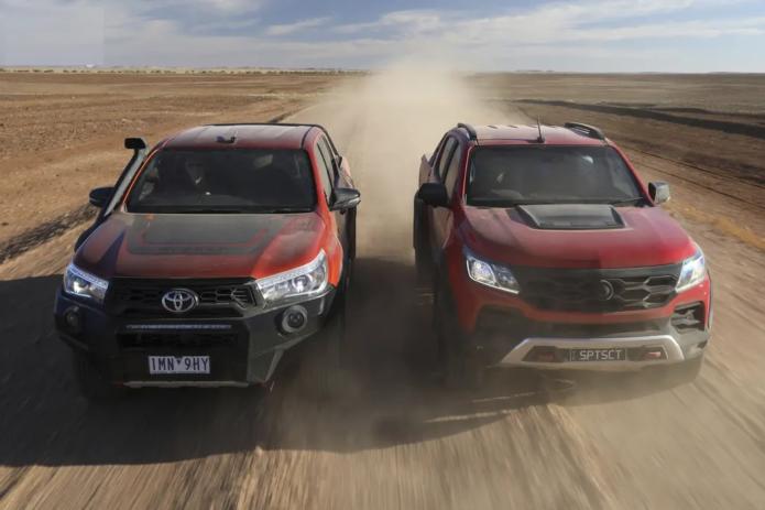 HSV Colorado SportsCat+ v Toyota HiLux Rugged X 2018 Comparison