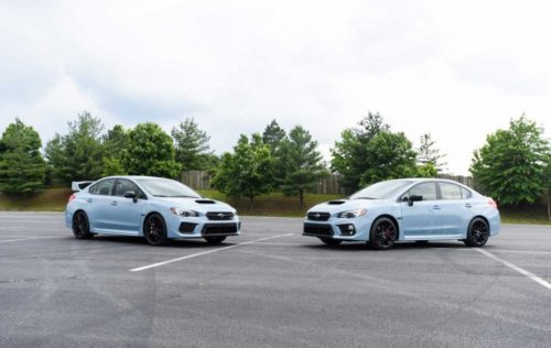 Subaru Series.Gray WRX and WRX STI unveiled at Boxerfest