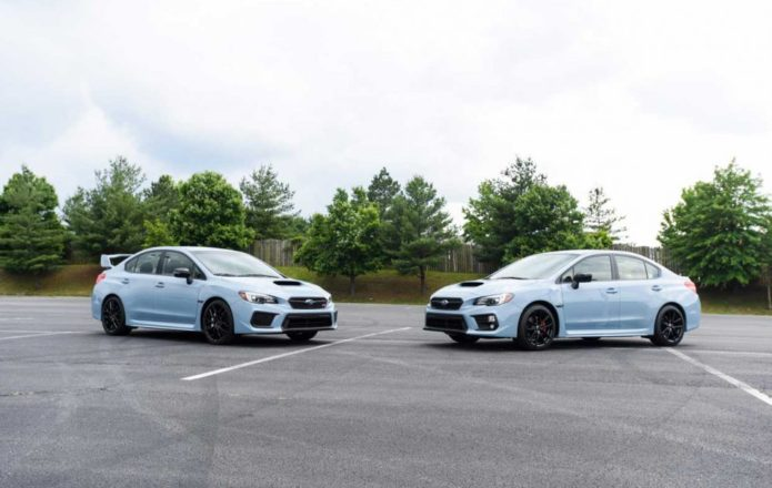 Subaru Series.Gray WRX and WRX STI unveiled at Boxerfest