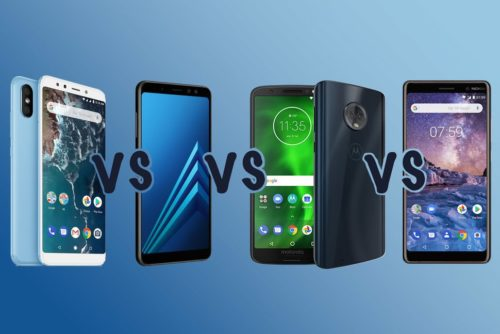 Xiaomi Mi A2 vs Samsung A8 vs Moto G6 vs Nokia 7 Plus: Which is best?
