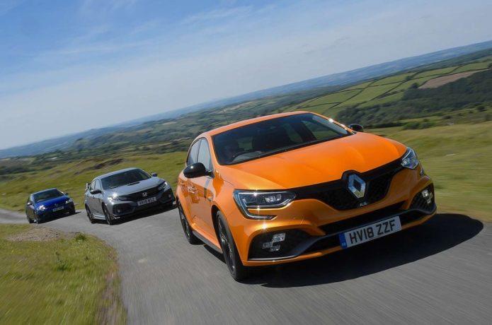 New Renault Megane RS vs Honda Civic Type R vs Volkswagen Golf R Comparison