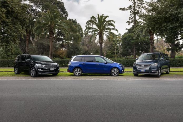 2018 Citroen Grand C4 Picasso Exclusive v Hyundai iMax Elite v Kia Carnival SLi Comparison