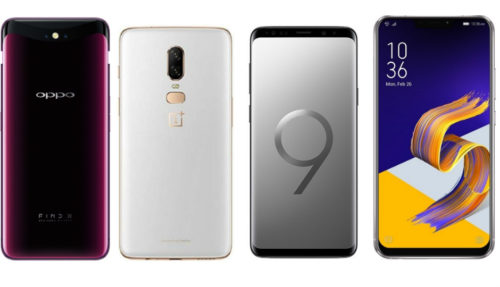 Spec comparison: Oppo Find X vs Asus Zenfone 5z vs OnePlus 6 vs Samsung Galaxy S9+