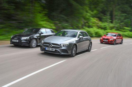 New Mercedes-Benz A-Class vs Audi A3 Sportback vs BMW 1 Series Comparison Review
