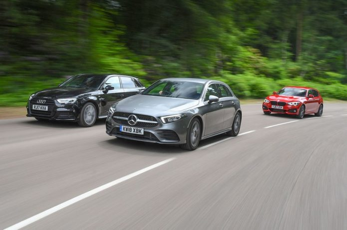 New Mercedes-Benz A-Class vs Audi A3 Sportback vs BMW 1 Series Comparison Review