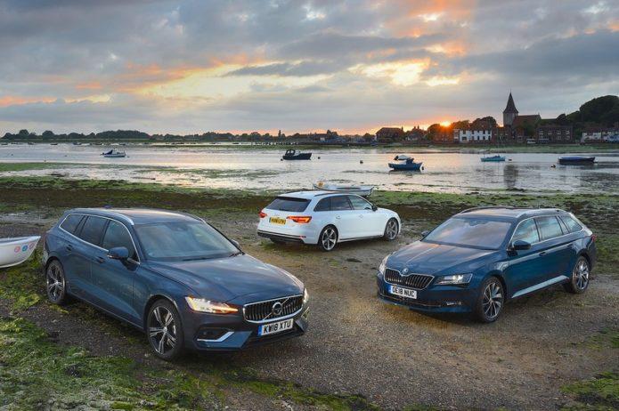 New Volvo V60 vs Audi A4 Avant vs Skoda Superb Estate Comparison