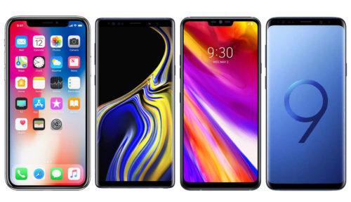 Spec comparison: Samsung Galaxy Note 9 vs Apple iPhone X vs LG G7 ThinQ vs Samsung Galaxy S9+