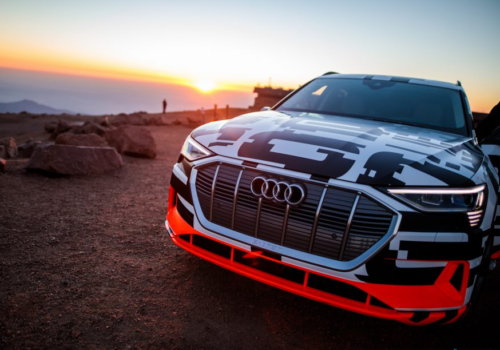 In our Audi e-tron Pikes Peak drive, the challenge is reversed