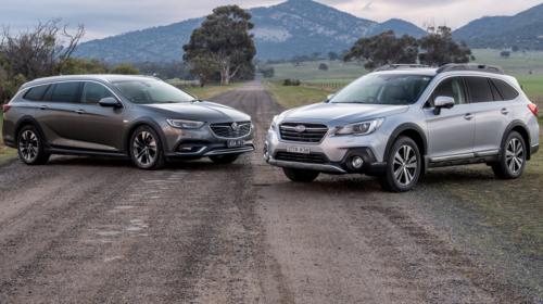 2018 Holden Calais-V Tourer v Subaru Outback 3.6R Comparison