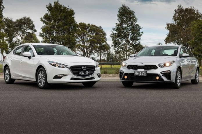 Kia Cerato S v Mazda3 Neo Sport 2018 Comparison