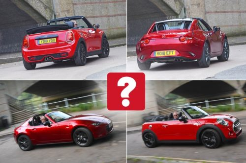 New Mini Convertible vs Mazda MX-5 RF Comparison