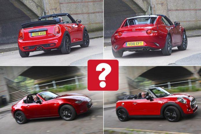 New Mini Convertible vs Mazda MX-5 RF Comparison