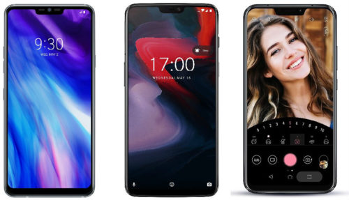Spec comparison: LG G7+ ThinQ vs OnePlus 6 vs Asus ZenFone 5z