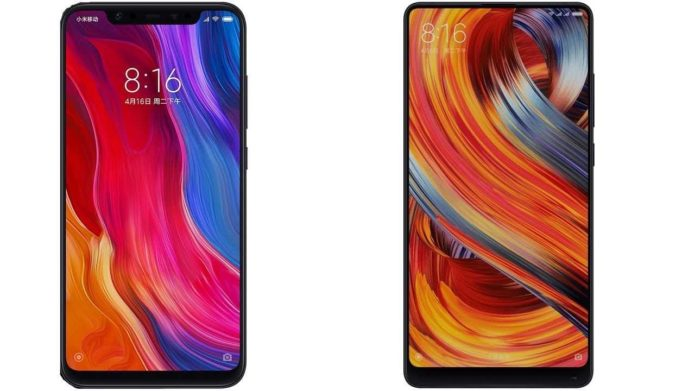 Xiaomi Mi Mix 2s vs Mi 8 specs comparison