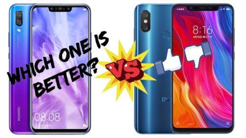 Huawei Nova 3 vs Xiaomi Mi 8 specs comparison