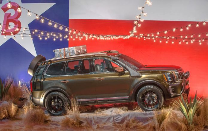 2020 Kia Telluride eight-seat SUV previewed with Texas-themed runway one-off