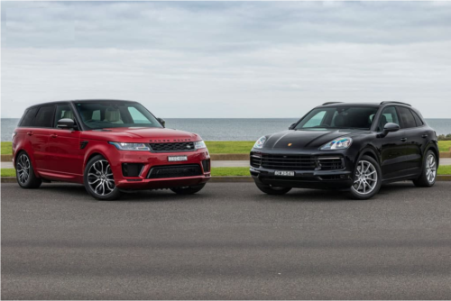 2018 Range Rover Sport SDV6 HSE v 2018 Porsche Cayenne S Comparison