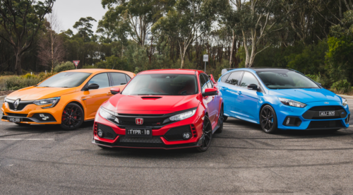 2019 Renault Megane RS v Ford Focus RS v Honda Civic Type R comparison