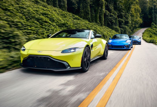 The All-New Aston Martin Vantage Squares Off against the Mercedes-AMG GT and Porsche 911 GT3