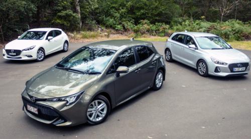 2018 Toyota Corolla v Hyundai i30 v Mazda 3 comparison