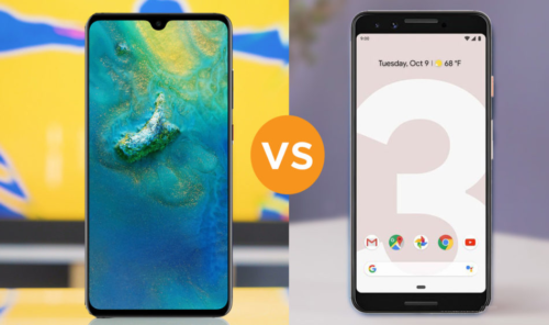 Huawei Mate 20 vs Google Pixel 3 specs comparison